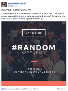 Marketers Media Random Weekend