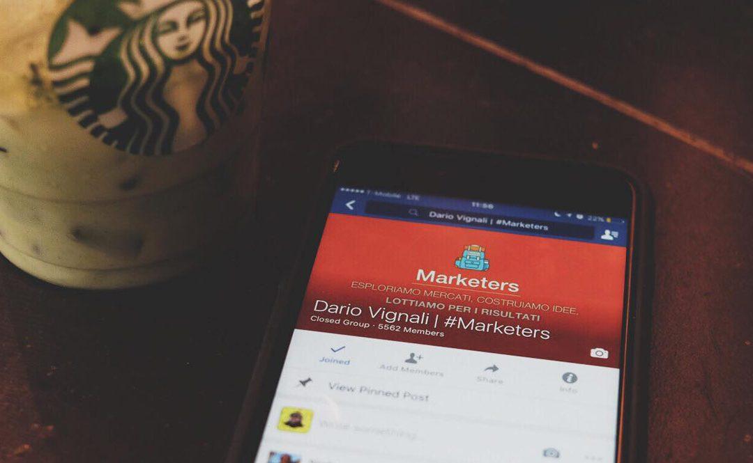 Gruppo Facebook: Come usarlo per posizionare il tuo brand.